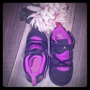 Black & Purple girls Jordan's